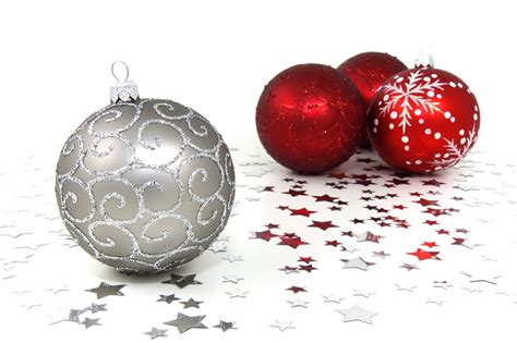silver and red christmas ornaments ornaments free stock photo and silver ornaments with silver on a white