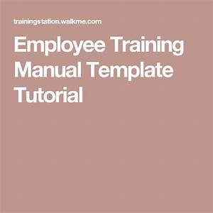 Employee Training Manual Template Tutorial