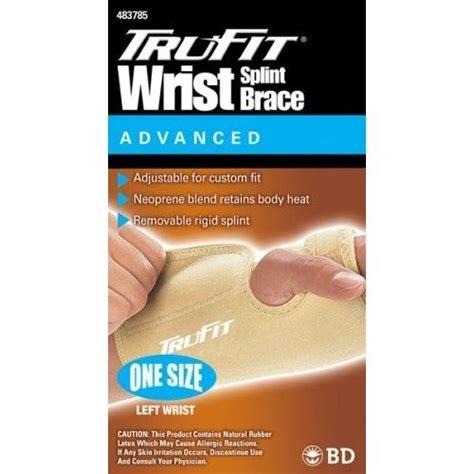 Trufit Tru-Fit Splint Wrist Brace Left Beige One Size Fits ...