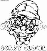 Clown Scary Coloring Pages Colorings sketch template