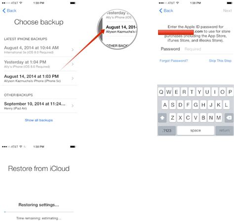 restore iphone from icloud backup once your icloud settings been restored your device