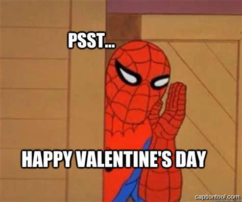 Happy Valentine Meme - psst happy valentine s day spiderman tree fiddy quickmeme