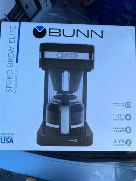 Bunn coffee makers have been helping brew coffee for years. Bunn CSB2B Speed Brew 10-cup Coffee Maker Black for sale online | eBay