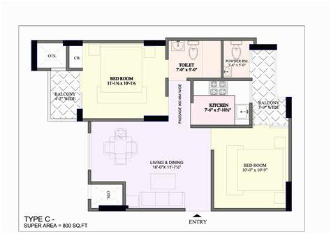 square feet apartment floor plan concept