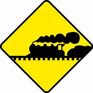 Clipart - Train Road Sign