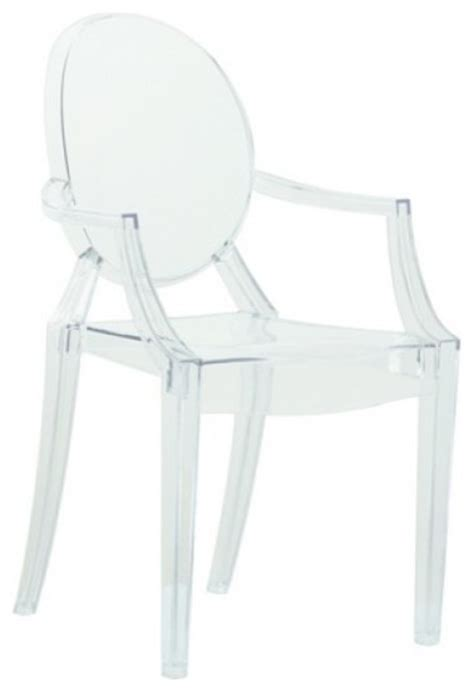 clear acrylic ghost arm chair modern dining chairs