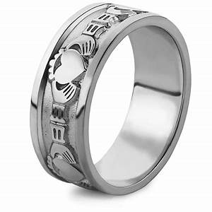 mens silver claddagh ring ms wed2 With claddagh wedding rings for men