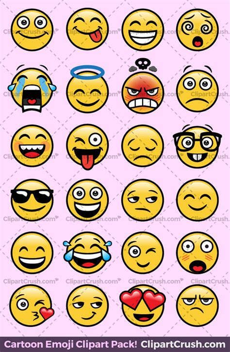 cartoon emoji clipart faces expressions transparent png