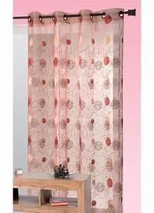 Rideau Voilage Rouge : voilage de salon de couleur rouge ~ Teatrodelosmanantiales.com Idées de Décoration