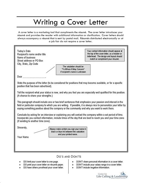 writing  cover letter job application resources