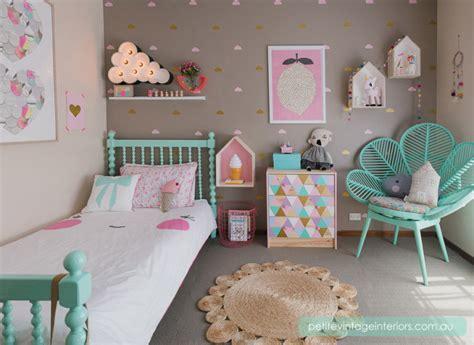 chambre pastel chambre fille pastel vert menthe