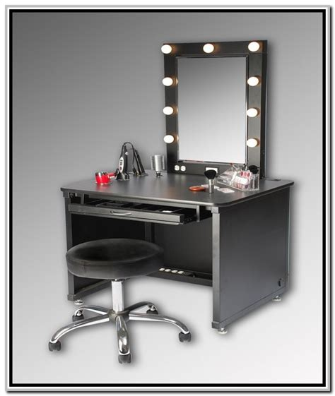 black makeup vanity table with lighted mirror makeup vanity for a perfect makeup style celebrity queen