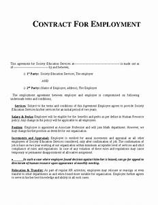 free contract of employment templates video search With standard contract of employment template