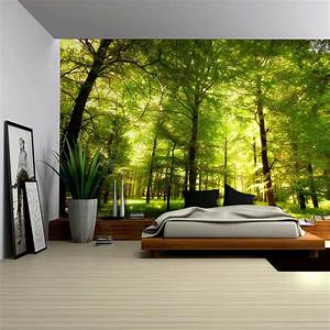 Crowded Forest Mural - Wall Mural, Removable Sticker, Home
