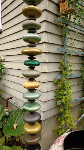 diy rain chain inspiration   garden
