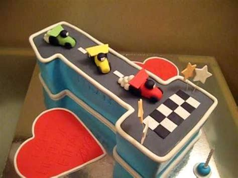 number   birthday cake racing cars youtube