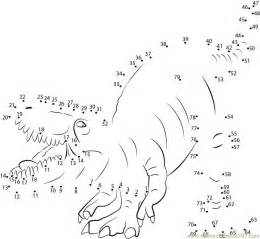 Dinosaur Connect the Dots Coloring Pages