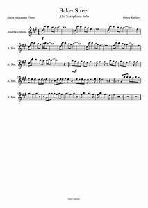 Tenor Saxophone Chart Sheet Music To Sax Part On Baker Street Google Search