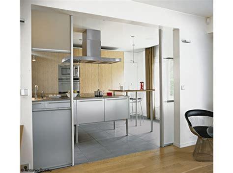 cloison separation cuisine sejour portes coulissantes cuisine interior design