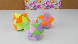 Origami Stern Falten Einfach : origami stern ball falten tutorial modular 12 star folding tutorial origami ideen diy anleitung ~ Watch28wear.com Haus und Dekorationen
