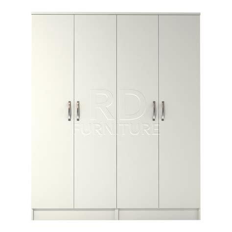 White 4 Door Wardrobe classic 4 door wardrobe white finish rdfurniture