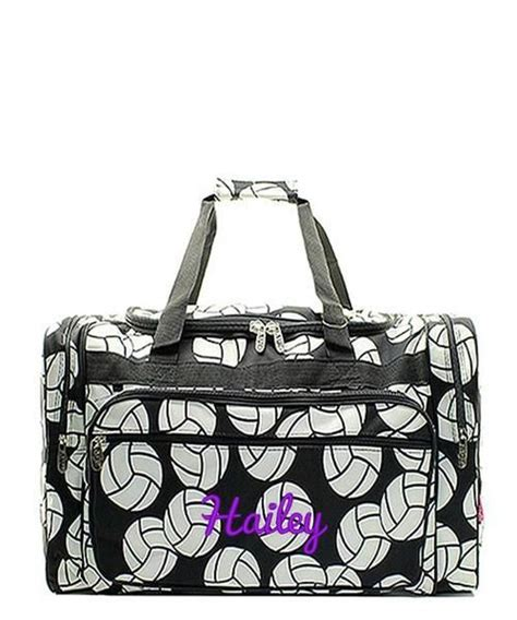 personalized volleyball black  kids duffle bag kids duffle bags