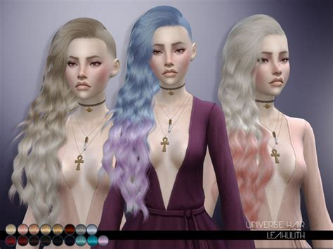 Sims 4 downloads · cc · clothes · hair · furniture · mods · custom content. Universe Hair by Leah Lillith at TSR » Sims 4 Updates
