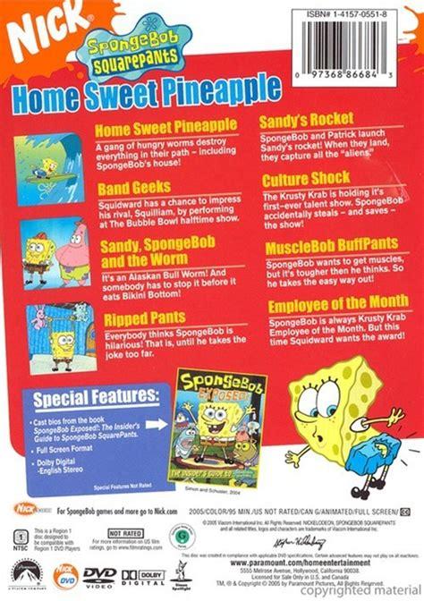 Spongebob Halloween Vhs And Dvd by Spongebob Squarepants Home Sweet Pineapple Dvd 2005