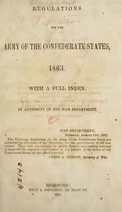 Civil War  Confederate Field Manuals