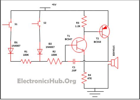 Simple Security Alarm Circuit Working Applications
