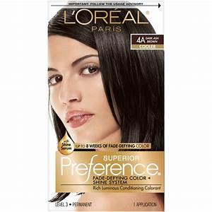Search l oreal preference hair color dark ash brown 4a 1ea ...