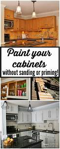 how to paint kitchen cabinets without sanding or priming With what kind of paint to use on kitchen cabinets for printed wall art