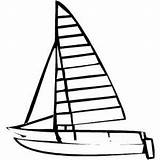 Catamaran Coloring Template Sheet Freecoloringsheets Boats sketch template