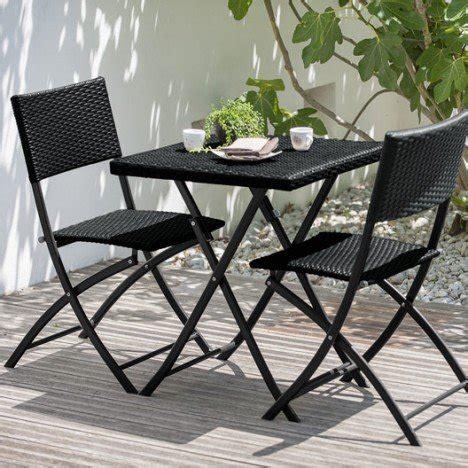 table et chaises de jardin en resine tressee salon de jardin set r 233 sine tress 233 e noir 1 table 2 chaises leroy merlin