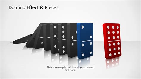 domino effect pieces template  powerpoint slidemodel