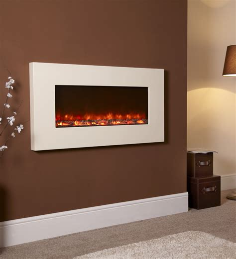 electric wall fireplace celsi electriflame ivory wall mounted electric