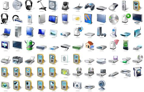 Admiring Windows 7s High Resolution Device Icons