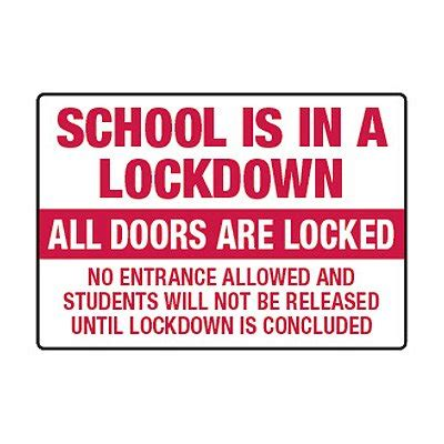 School is in a Lockdown - Lockdown Signs | Seton | Seton