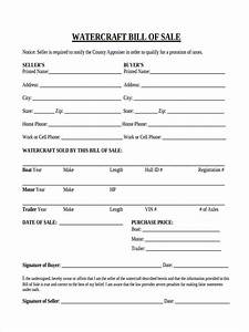 watercraft bill of sale free 5 sample watercraft bill of sale forms in ms word pdf