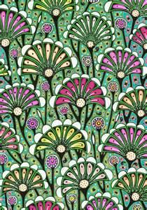 Art Nouveau Flower Drawings
