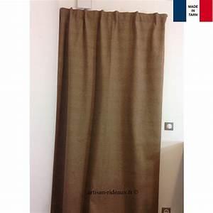 Rideaux Ruflette Pret Poser : rideaux ruflette isolant thermique varese taupe pour ~ Teatrodelosmanantiales.com Idées de Décoration