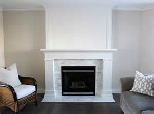 How To Fix My Gas Fireplace by White Amp Marble Fireplace The Makeover Details Satori