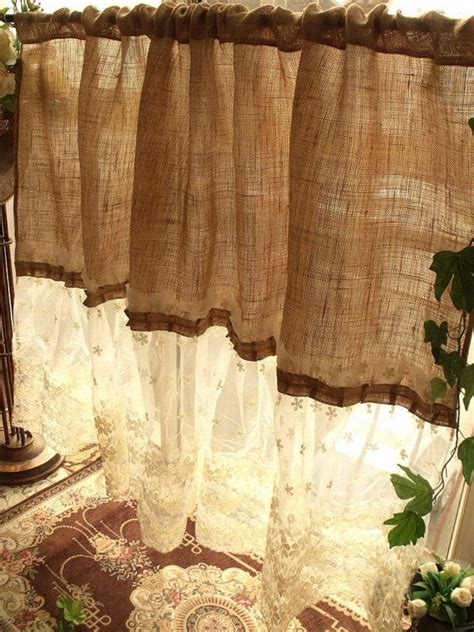 ideas  burlap curtains  pinterest burlap
