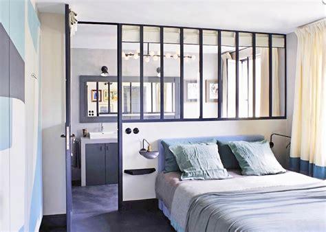 idee chambre parentale avec salle de bain chambre style atelier