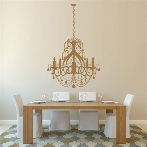 wall stickers home decor grand chandelier wall sticker dining room wall decal
