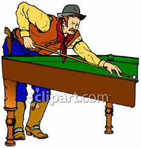 A Man, a Cowboy, Playing Billiards - Royalty Free Clipart ...