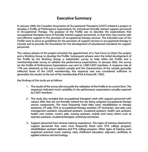 summary report template 10 free pdf word apple pages docs format