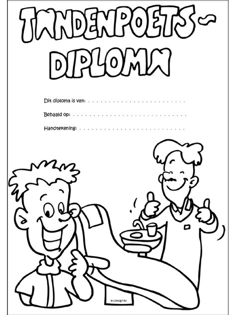 Kleurplaat Fietsdiploma by Plaatjes