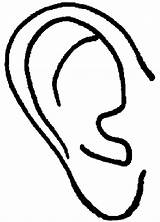 Ears Ear Coloring Pages Right Elf Hear Drawing Popular Clipartmag sketch template