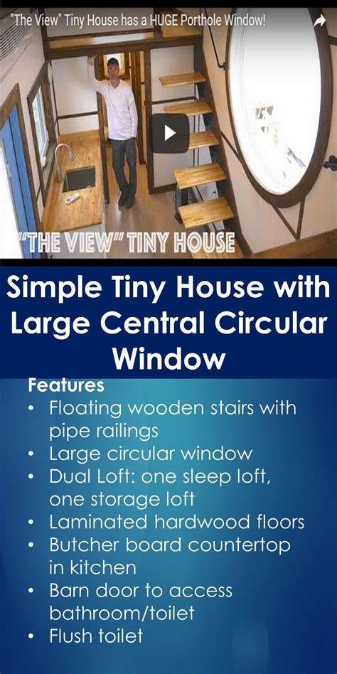 tiny house  simple tiny house  large central